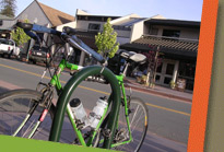 Green Bicycle Outside