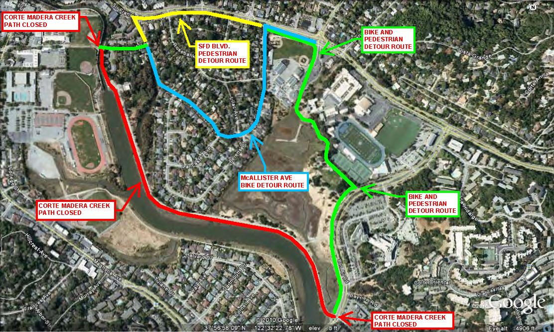 Mcallister Park Map Welcome to Walk Bike Marin! Mcallister Park Map
